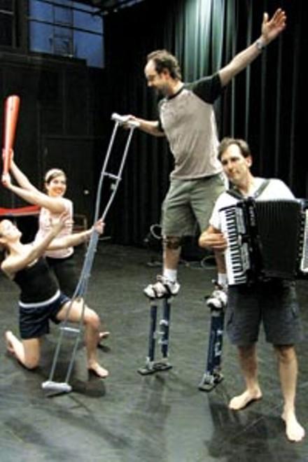 (gravity + grace) cast members including (at right) composer Steve Pellegrino.