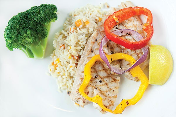 Grilled American red snapper bella vista - PHOTO BY HEATHER MULL