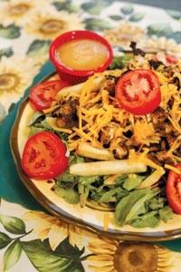 Grilled chicken salad - HEATHER MULL