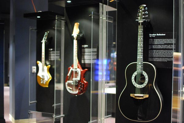 Guitars on display in the GUITAR exhibit
