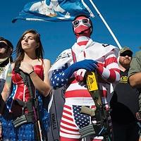 """Gun shown: """"'Come and Take It' Rally, The Alamo, San Antonio, Texas, USA"""" (2013)"""