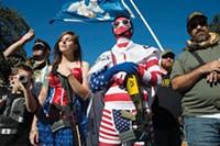 "Gun shown: ""'Come and Take It' Rally, The Alamo, San Antonio, Texas, USA"" (2013) - PHOTO BY NINA BERMAN"
