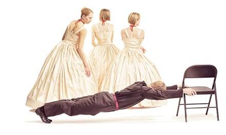 "Have a seat: Marina Harris' ""The Three Camilles."" - PHOTO COURTESY OF FRANK WALSH."