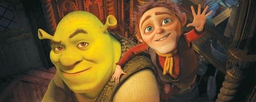 Have I got a deal for you: Shrek and Rumpelstiltskin discuss life.
