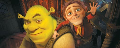 Have I got a deal for you: Shrek and Rumpelstiltskin discuss life.