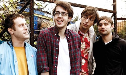 He don't need no education: Cloud Nothings' Dylan Baldi, second from left - COURTESY GEMMA HARRIS
