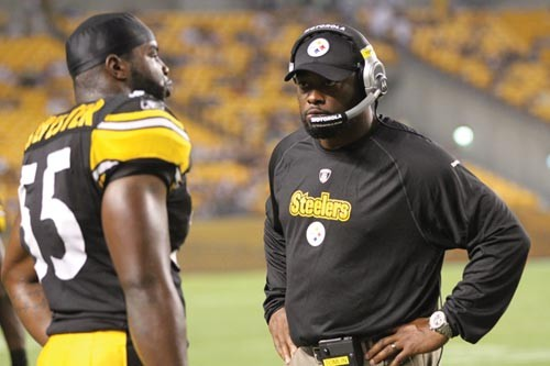 "Head Coach Mike Tomlin's ""matter-of-fact"" style has been good for the Steelers. - PHOTO BY HEATHER MULL"