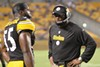 "Head Coach Mike Tomlin's ""matter-of-fact"" style has been good for the Steelers."