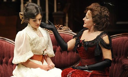 Hellman's half-acre: Lara Hillier (left) and Helena Ruoti in The Little Foxes, at Pittsburgh Public Theater. - COURTESY OF PITTSBURGH PUBLIC THEATER
