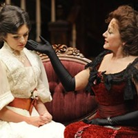 Hellman's half-acre: Lara Hillier (left) and Helena Ruoti in <i>The Little Foxes</i>, at Pittsburgh Public Theater.