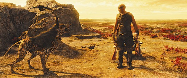 He's gotta wear shades: Vin Diesel as Riddick