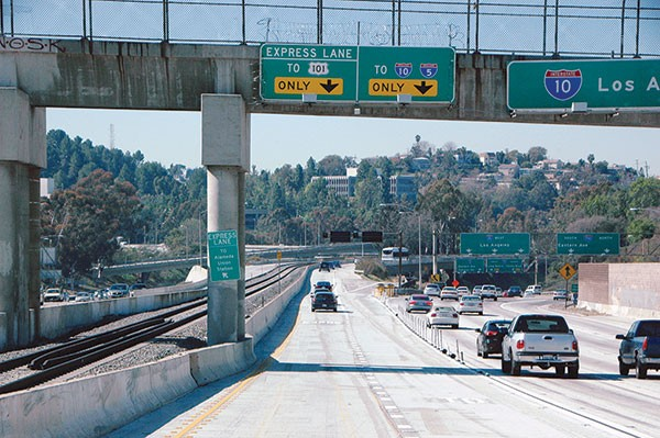 High Occupancy Toll Lanes in Los Angeles County, Calif.