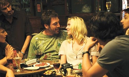 Holiday in the sun: Javier Bardem and Scarlett Johansson