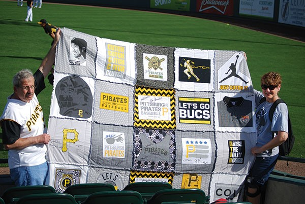 Home-made Pirates quilt