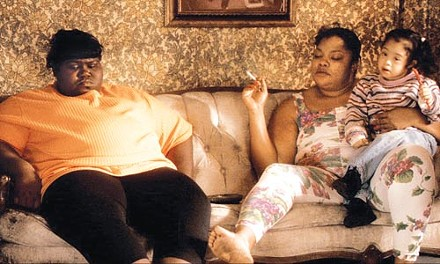 House of pain: Precious (Gabourey Sidibe) and her mother (Mo'Nique), at home