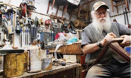 Howard Reisner at Alef Chair Restoration - HEATHER MULL