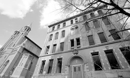 Iced: St. Regis Hall, by Epiphany Church, in the Hill District, is being demolished to make room for a new hocky arena.