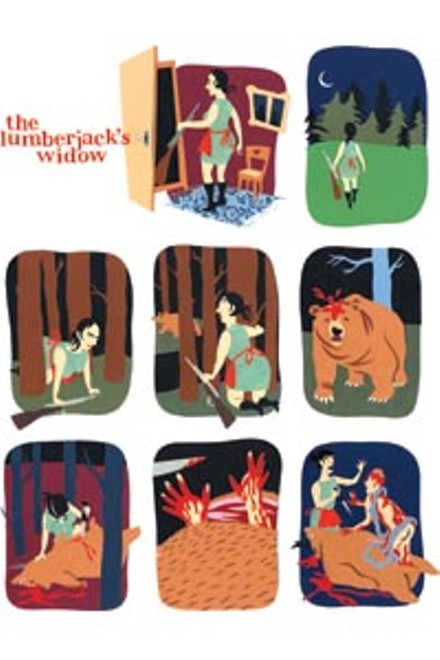"Images from ""The Lumberjack's Widow,"" by Anna Summer, in Kramer's Ergot 7"