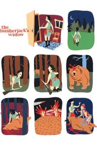 "Images from ""The Lumberjack's Widow,"" by Anna Summer, in Kramer's Ergot 7"