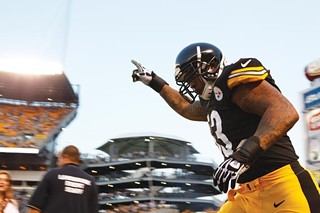 In only his third year, Maurkice Pouncey is one of the vets of the offensive line. - PHOTO BY HEATHER MULL