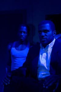 In the cards: Anton Floyd (left) and Quester Hannah in New Horizon Theater's Topdog/Underdog - COURTESY OF RICHENA BROCKINSON
