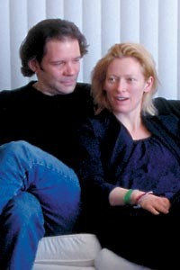Infectious: Thomas Jay Ryan (left) and Tilda Swinton in Strange Culture.