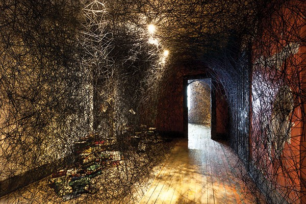 Interior landscape: view of Chiharu Shiota's Trace of Memory.