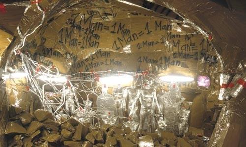 It's dynamite: Thomas Hirschhorn's Cavemanman (detail).