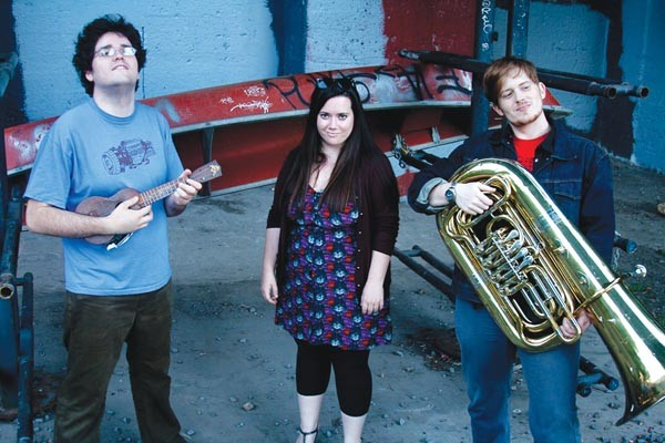 It's in their memes: Uke and Tuba (from left: Eric Frankenberg, Caitlin Northup, Alex Baratta)