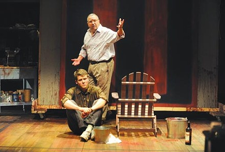 Jack Cutmore-Scott and Jeff Still in Red, at Pittsburgh Public Theater - PHOTO COURTESY OF PITTSBURGH PUBLIC THEATER.