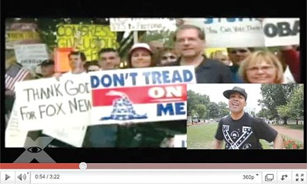 """Jasiri X filmed his video, """"What if the Tea Party was Black"""" in Washington, D.C."""