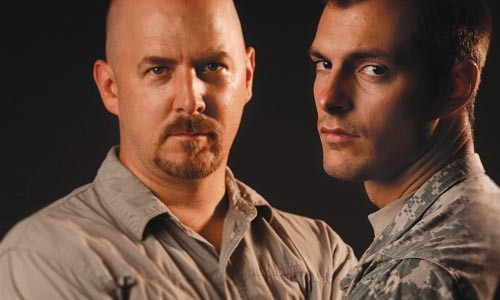Jeffrey Carpenter (left) and Iraq war veteran Shawn Bronson - PHOTO COURTESY OF JEFF SWENSEN