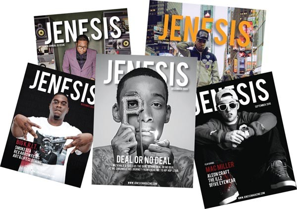 Jenesis covers have featured artists from Mac Miller and Wiz Khalifa to Big K.R.I.T. and Curren$y.