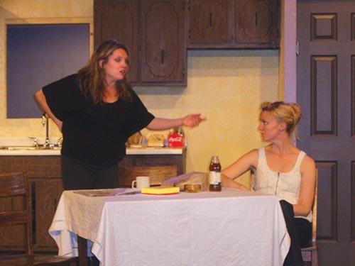 Jennifer Chervenick (left) and Jodi Gage in Theatre Factory's Crimes of the Heart