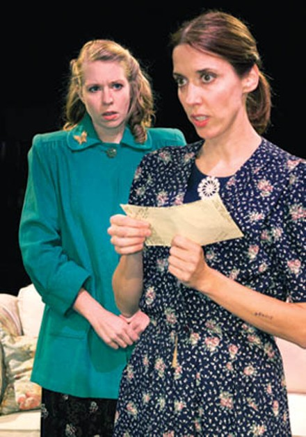 Jenny Malarkey (rear)and Mary Liz Meyer in Little Lake's A Shayna Maidel. - PHOTO COURTESY OF JAMES ORR