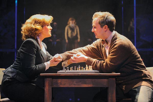 Jesse Pardee, as Florence, and Alex Walton, as Gregor, in Chess