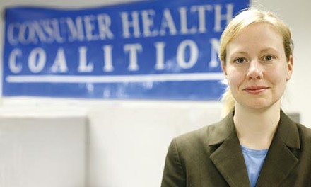 Jessica Seabury of the Consumer Health Coalition, says a proposed state insurance program is a way to provide health insurance to all Pennsylvanians. - HEATHER MULL