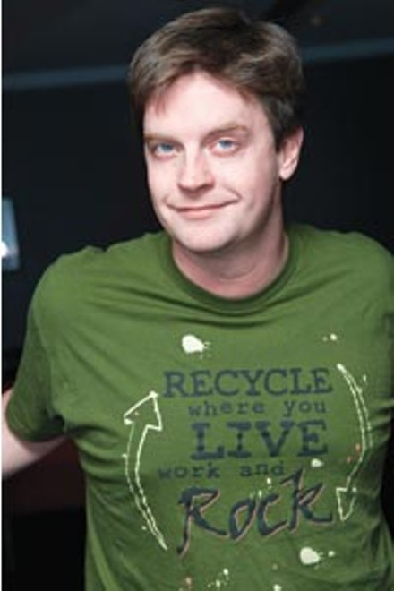 Jim Breuer, sans leather pants and kangaroo.