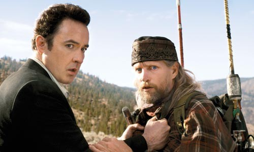 John Cusack and Woody Harrelson look scared -- and for good reason.