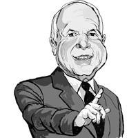John McCain - ILLUSTRATION: FRANK HARRIS