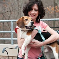 Jolene Miklas, director of communications at Animal Friends, with Webster
