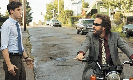 Jon Foster and Peter Sarsgaard go for a ride.