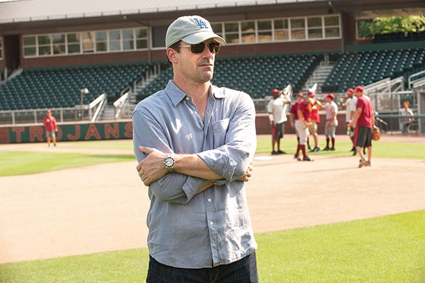 Jon Hamm takes the field.