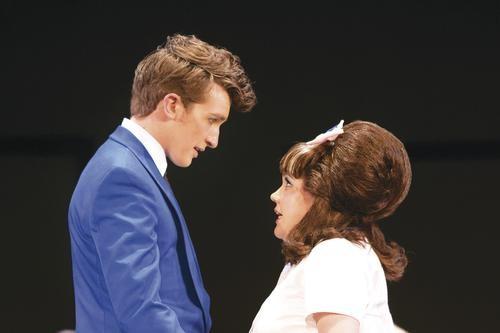 Jordan Haskins (left) and Nina Danchenko in Pittsburgh Musical Theater's Hairspray. - PHOTO COURTESY OF PATTI BRAHIM.