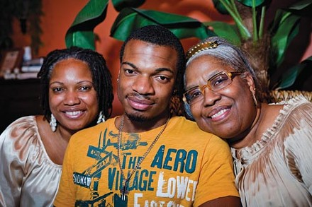 Jordan Miles with his mother, Terez Miles (left), and his grandmother, Patricia Porter - PHOTO BY RENEE ROSENSTEEL