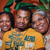 Jordan Miles with his mother, Terez Miles (left), and his grandmother, Patricia Porter