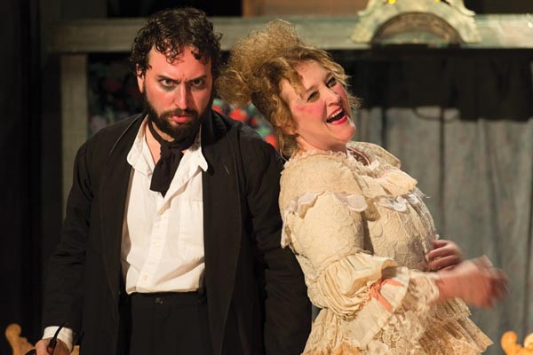 Josh Mulkey and Becki Toth in Stage 62's Sweeney Todd