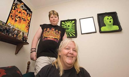 Juggalo at home: Josh Trafinchick and Wendy Fitman in Josh's bedroom. - HEATHER MULL