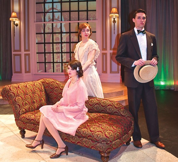 Julia Warner (foreground), Katie Oxman and Andrew Swackhamer in The Great Gatsby, at Prime Stage.