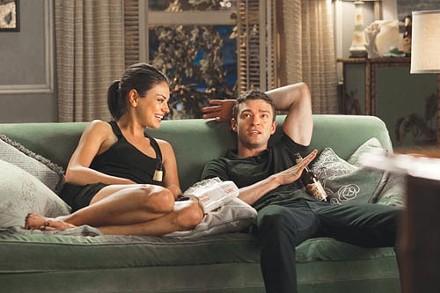 Just snuggly buddies: Mila Kunis and Justin Timberlake